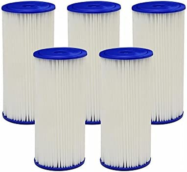 Case of 5 HDX 4PF4 Universal Fit Pleated High Flow Whole House Water Filter