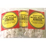 Cotton Wicks Round 14grams, Approx. 70 Wicks (Pack of 3 - Approx. 210 Wicks))