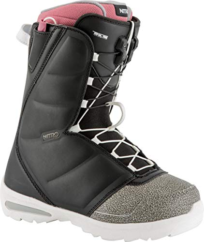 (Nitro Snowboards Flora TLS Boots, Women, Womens, 848459, Black/Pink, 275)