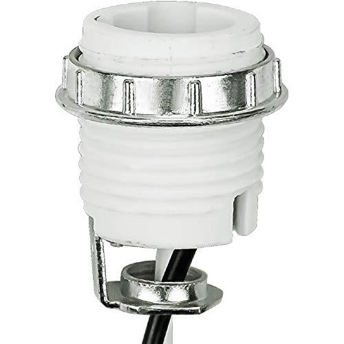 (Keyless Socket - Porcelain - 75 Max. Watt - Candelabra Base - 1/8 IPS Hickey Mount - 12 in. Leads - PLT 45-3890-99)