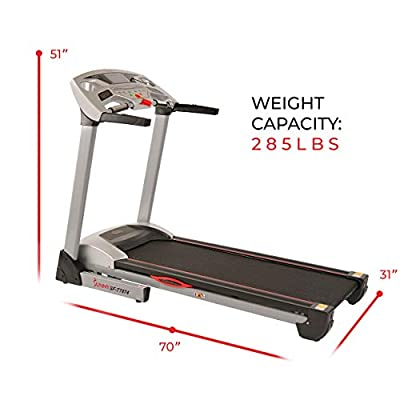 Sunny Health & Fitness Performance Treadmill, High Weight Capacity with 15 Levels of Auto Incline, MP3 and Body Fat Function - SF-T7874