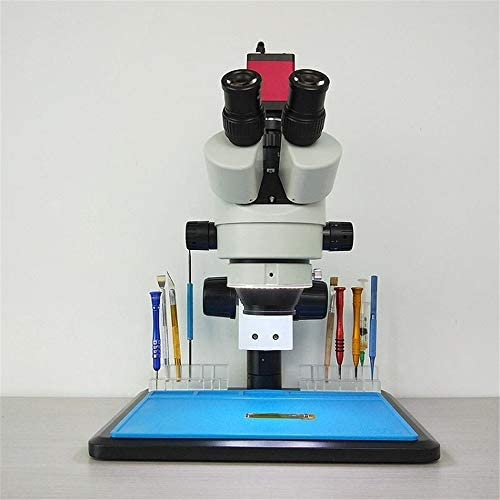 Wenzhihua Microscopio Multifuncional Efix 3.5-45X 13 MP trinocular estéreo microscopio de Soldadura Soporte Lente de la cámara Digital for Kits de Herramientas for móviles de reparación: Amazon.es: Hogar