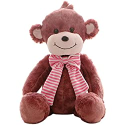 "Cuddly Plush Stuffed Animals Toy Wear Scarf Series Monkey Doll 20"" Kids' Plush Pillows Cushion Plush Doll For Graduation Valentine's Day Birthday Xmas Christmas Wedding Presents Gifts"
