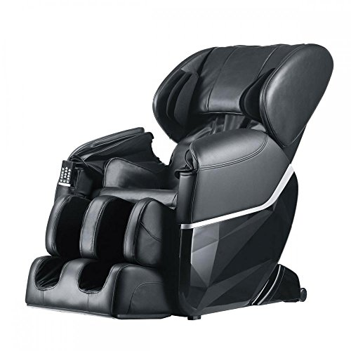 Electric Best Massage Recliner Chair Full Body W/Heat Foot Stretched Ergonomic Deluxe Zero Gravity, Black (Repair Diego San Upholstery Furniture)