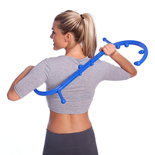 Body Back Company's Body Back Buddy Trigger Point Therapy Self Massage Tool – Lower Back Massager – Neck Massager – Shoulder Massager - Myofascial Release Tool – Deep Muscle Massage (Blue) by Body Back Company