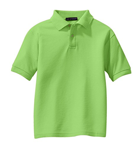 port-authority-youth-silk-touch-sport-shirts-lime