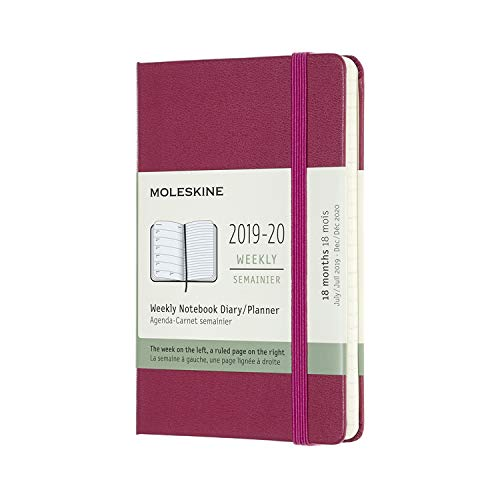 - Moleskine Classic 18 Month 2019-2020 Weekly Planner, Hard Cover, Pocket (3.5