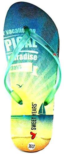Sweet Years Infradito Ciabatte Mare Donna MOD. 0130 Verde Acqua (40/41)