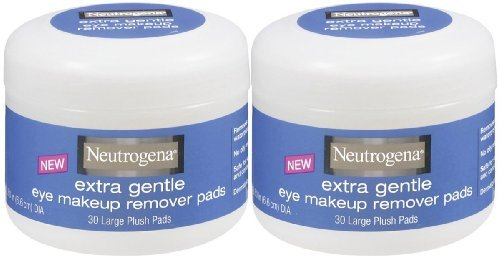 Neutrogena Cosmetics Eye Makeup Remover Pads, Extra Gentle - 2 pk