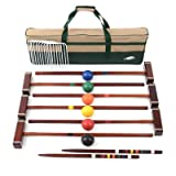 Lion Sports Platinum 6 Player Croquet Set, 33-Inch