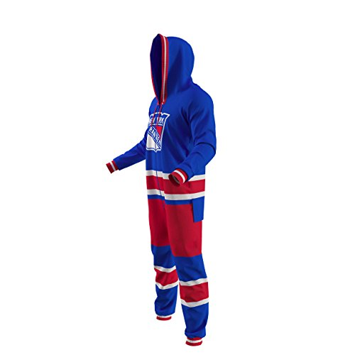 fan products of On Sale New York Rangers Ice Hockey Team Color Logo NHL Licensed Onesies Fan Apparel (Large)