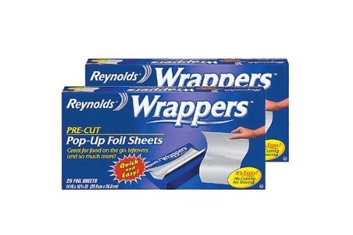 Reynolds Wrappers Pop Up / Foil Sheets (2 Pack) No cutting or Tearing...
