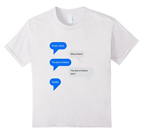 Shakespeare Knock Earl Oxford T Shirt