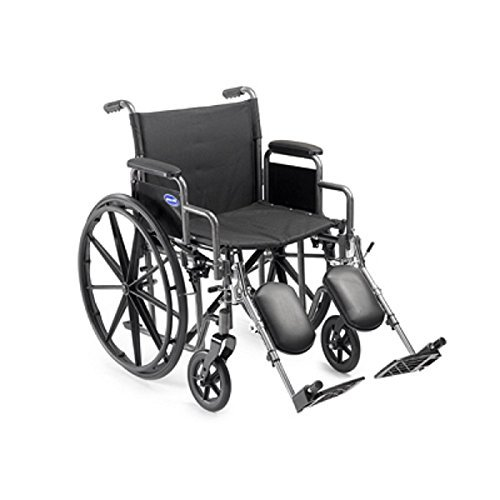 Arm Elevated Legrest - Wheelchair Personal Transport Lightweight (Invacare Veranda 20 x 16 - Large w/Desk Length Removable Arms & Elevated Legrests