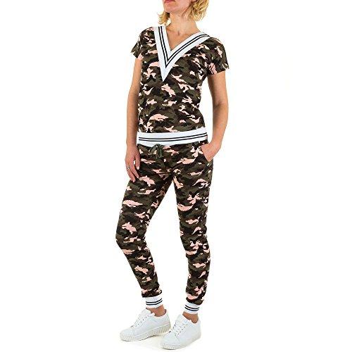 Freizeit Camouflage Zweiteiler Overall Für Damen , Khaki In Gr. L bei Ital-Design