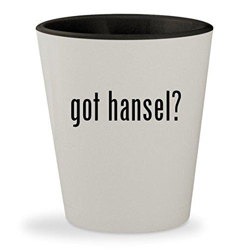 Hansel And Gretel Witch Hunter Costumes (got hansel? - White Outer & Black Inner Ceramic 1.5oz Shot Glass)