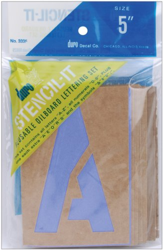 Duro Stencil-It, Reusable Oil Board Lettering Set, 3335, 5 inches GRAPHIC PRODUCTS