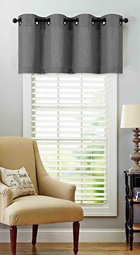 - Regal Home Collections Luxurious Oversized Grommet Top Window Valance - Assorted Colors (Gray)