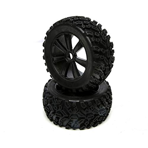 Force RC Front and Rear Tire Set, Premount (2): 1/8 Muckraker, FCES44001