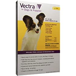 Vectra for Dogs Puppies 2.5 to 10 lbs 6 Doses