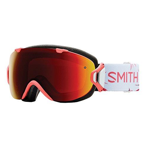Smith Optics Womens I/OS Snowmobile Goggles Sunburst Zen/ChromaPop Sun Red Mirror