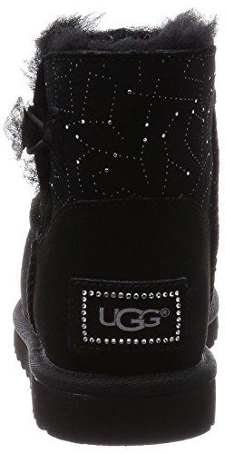 UGG Australia Mini Bailey Button Bling Constellation, Botines para Mujer Negro