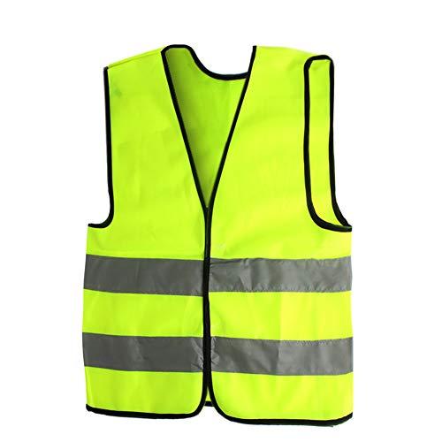 AngelicaAP High Visibility Kids Safety Vest, Children Waistcoat Vest Grey Reflective Strips Traffic -