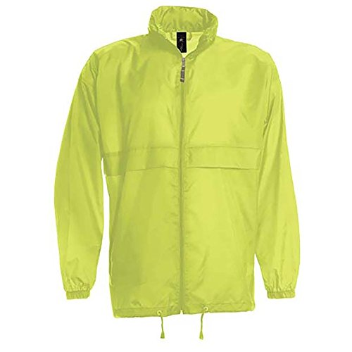 B&C Sirocco Mens Lightweight Jacket/Mens Outer Jackets (XXL) (Ultra (Visibility Windbreaker)