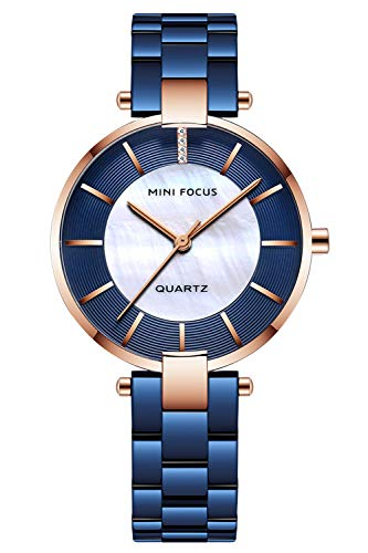 Bestn Womens Watch Quartz Watch with Stainless Steel Casual Fashion Analog Wrist Watch for Ladies