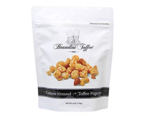 Brandini Toffee, Toffee Popcorn Cashew Almond, 6 Ounce