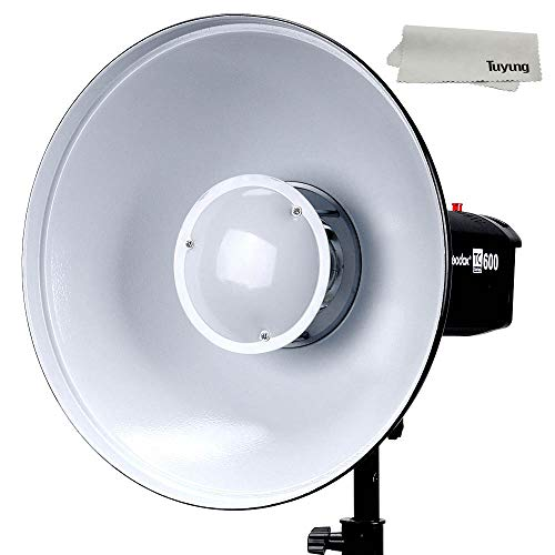 Godox 21'' 55cm Beauty Dish Reflector with Honeycomb Grid for Bowens Mount Studio Flash Strobe Monolight Such as Witstro AD600B AD600BM QT600IIM QT400IIM (Interior: White Bounce) by Godox (Image #5)
