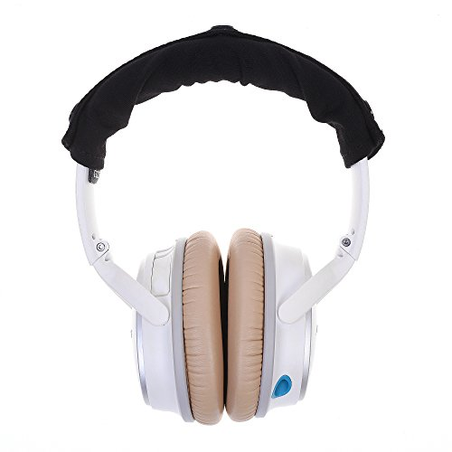 COSMOS Black Soft Cotton Headphone Pad Protective Cover Sleeve , Suitable for Bose QC25 , Beats solo , Beats solo HD Headphone Headset