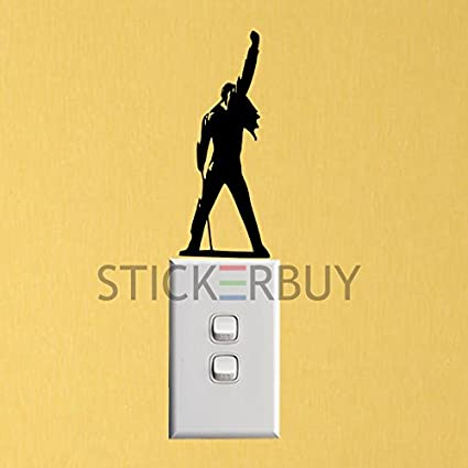 stickerbuy� New Cartoon Wall Stickers for Kids Room Freddie Mercury Fashion Switch Stickers Decor Home Decor