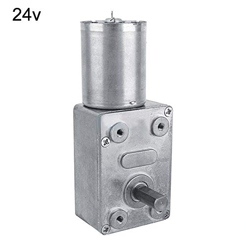 LOadSEcr's Home Improvement Tools, DC 6/12/24V Worm Gear Reduction Motor High Torque Mini Electric Gearbox Reducer Multi Hand Tools - Silver 24V