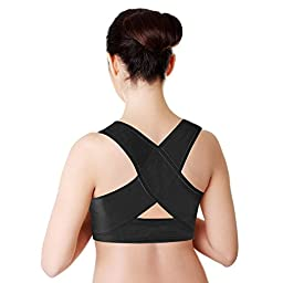 PU Health Unisex Personal Posture Corrector Supportive Back Wrap Pain Relief, 16.0 Ounce
