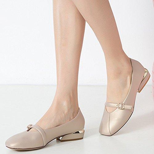 Chaussures Taille Plates Dames Mémoire EU37 la de Classique Cuir ZHANGRONG sur Couleur A Rembourrée 5 Femmes UK4 Mocassins Mousse en des Glissent B 5 CN37 dU75q