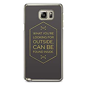 Samsung Note 5 Transparent Edge Phone Case Find Inside Phone Case Motivation Note 5 Cover with Transparent Frame