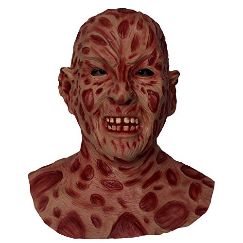(Freddy Krueger Mask Latex Full Overhead Burn Face Mask Halloween Adult Costume Fancy Dress)