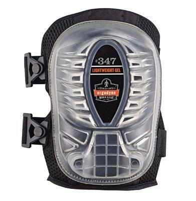 Ergodyne ProFlex 347 Long Cap Lightweight Gel Knee Pads, Black