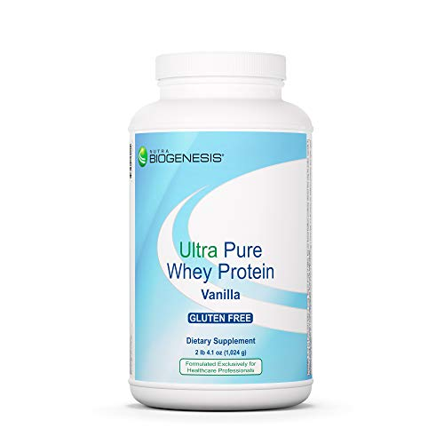 Nutra BioGenesis Ultra Pure Whey Protein Vanilla - B Vitamins, Thiamine & Riboflavin for Recovery and Lean Body - Vanilla Flavored Protein Powder - Gluten Free - 2.3 Lb
