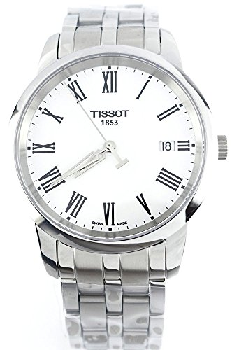T0334101101301 Watch Tissot Men's Dream Stainless steel case, Stainless steel bracelet, White dial, Quartz movement, Scratch resistant sapphire, Water resistant up to 3 ATM - 30 Meters - 99 Feet