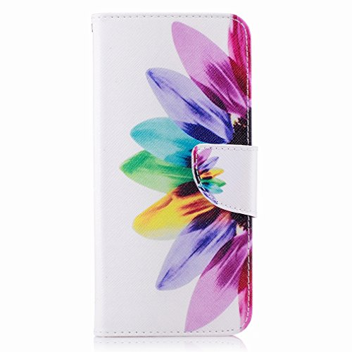 Yiizy Samsung Galaxy S8+(S8 Plus) Custodia Cover, Petalo Design Sottile Flip Portafoglio PU Pelle Cuoio Copertura Shell Case Slot Schede Cavalletto Stile Libro Bumper Protettivo Borsa