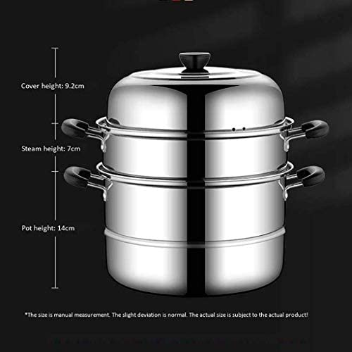 XH&XH Cuiseur à Vapeur en Acier Inoxydable Multifonction à Trois Couches Vapeur Couche épaississante cuisinière à gaz Domestique cuisinière à Induction ustensiles de Cuisine