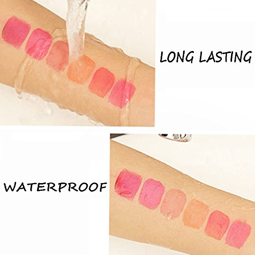 VOLLUCK Wine Liquid Lipstick, Lady Long Lasting Make Up Gloss Matte Lip Tint Wine Bottle Cover, Waterproof, Best Gift Kit Ideas for Girlfriends, Women, Moms(Six Colors) by VOLLUCK (Image #3)