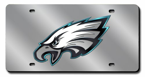Philadelphia Eagles Laser License Plate (NFL Philadelphia Eagles Laser Tag (Silver))