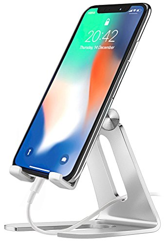 - Comsoon CRK1 Cell Phone Stand, Universal Adjustable Holder, Cradle, Charging Dock for all Smartphones, iPhone XS Max/ XS/ XR/ 8 Plus, Galaxy Note9/ S9, iPad Mini, Switch, Reading & Live Stream, Sliver