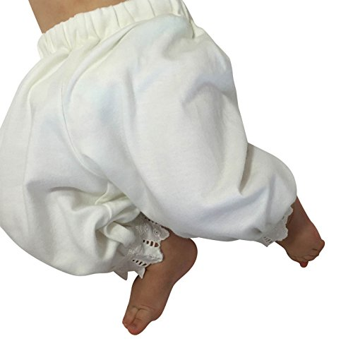Victorian Organics Little Girl Toddler Pantaloon Organic Cotton Lace Long Pant (3T 3 Toddler, Off-White) by Victorian Organics (Image #5)