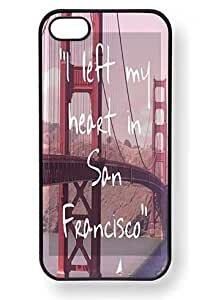 meilinF000I Left My Heart in San Francisco Quote Phone Case for iPhone 5 / 5c (Black)meilinF000