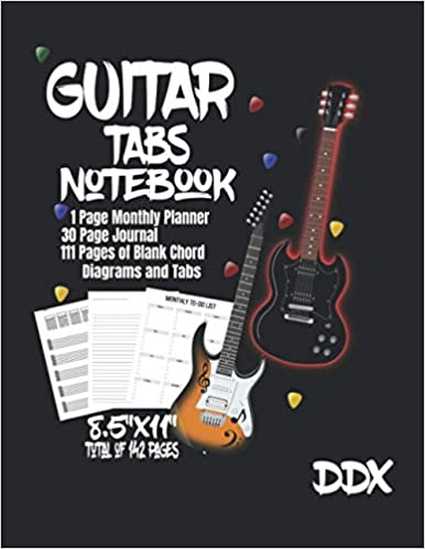 Guitar Monthly Planner