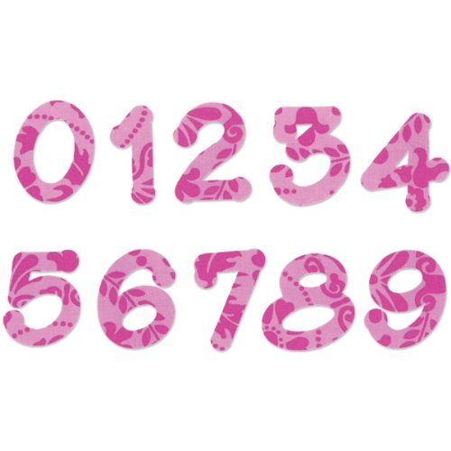 Sizzix Bigz Alphabet Set 2 Dies - Lollipop Shadow Numbers by E.L. Smith (fabi ()